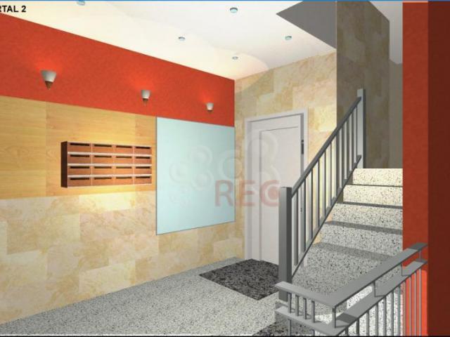Dise o de interiores portal bloque de viviendas for Interiores de viviendas