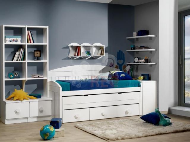Dormitorios juveniles a medida lacados en blanco - Camas infantiles blancas ...